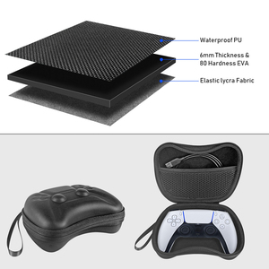 Image 5 - for PS5 Portable EVA Hard Travel Carrying Case Cover Shockproof Storage Bag Pouch Shell For PlayStation 5 Controller Accessories