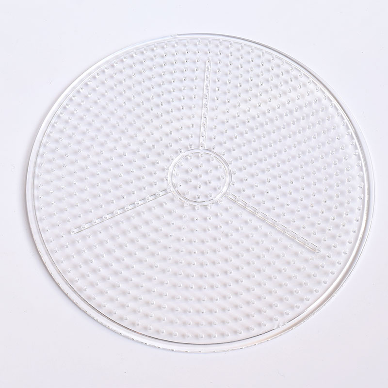 5mm Big Circle Hama Beads Pegboard For Kids Craft Fuse Beads 3D Puzzle Pegboards DIY Toy Fuse  Puzzles Template