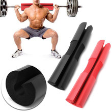 2 Pieces Barbell Squat Pad, Weight Cushion Support Gym Barbell Pad for Standard and Olympic Squat Bar Red and Black(China)