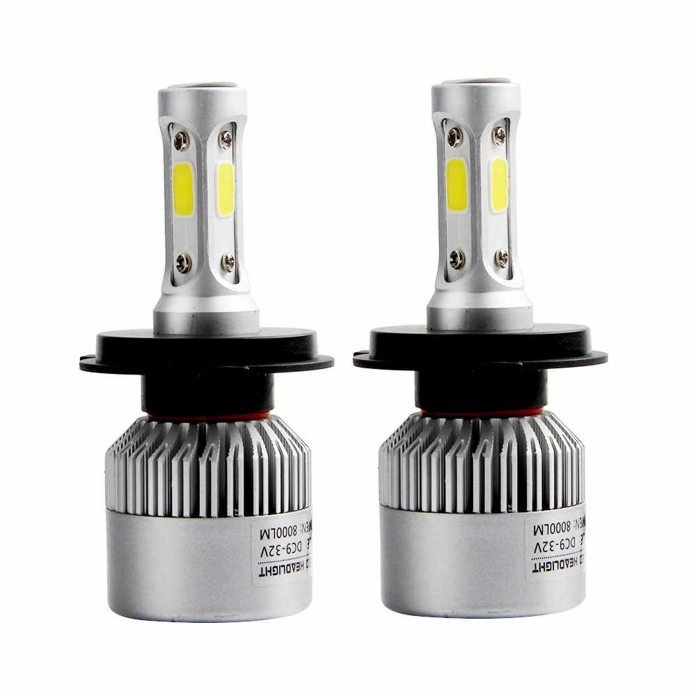 kongyide car light 110W H4 COB  LED 16000LM Auto Car Headlights Kit Driving Bulbs Lamps 6000K fog daytime running light DRL