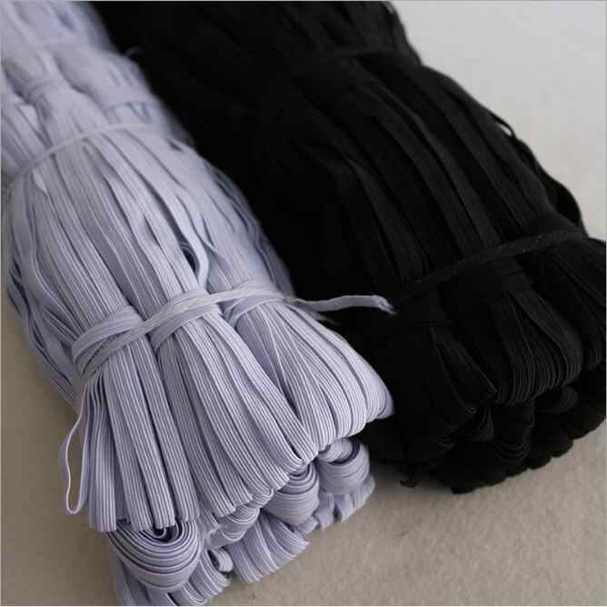 3/6/8/10/12mm bandas elásticas para máscara facial ancho cordón elástico para manualidades cuerda elástica correa de goma de látex banda para cintura cuerda para coser 5Z