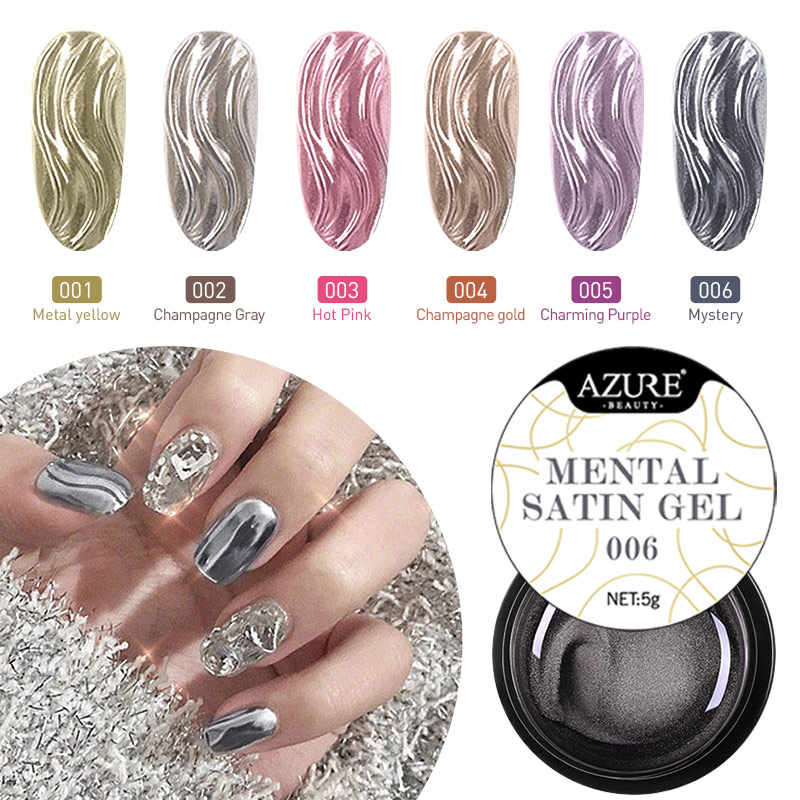Modelones 6 Pcs/lot Metal Spider Gel Cat Kuku Tahan Lama Lukisan Warna-warni Uv Gel Nail Polish Set Semi Permanen Bahasa Polandia