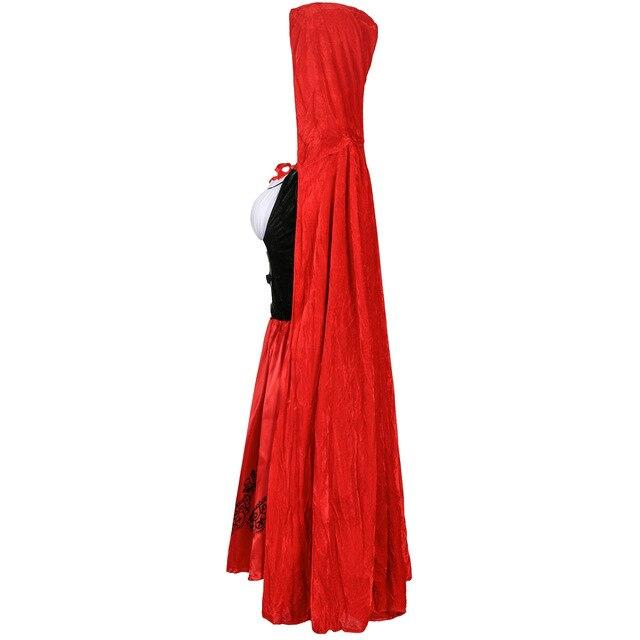 s 3xl толще с маленькой красной накидкой капюшоном платье красное фотография