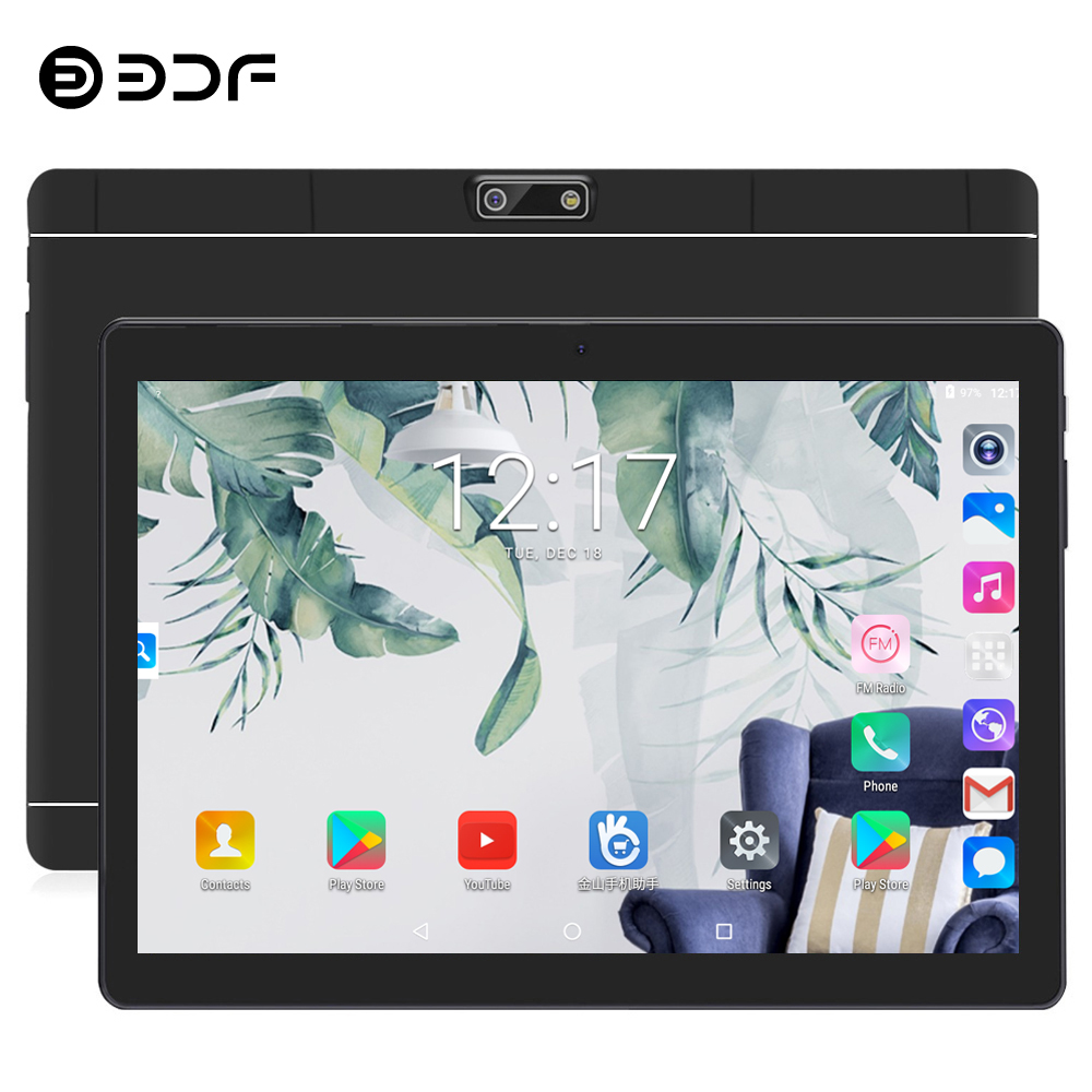 BDF Tablet 10 Inch Dual SIM 4G Phone Call Tablets Pc 4GB+64GB Android 7.0 Octa Core Mobile Phone Tablet 1280*800 IPS Tablet 10.1