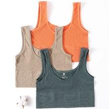 Women Crop Tops Female Summer Camis Knitted U Neck Tank Top Streetwear Vest Top Sleeveless Seamless Underwear Sexy Camisole