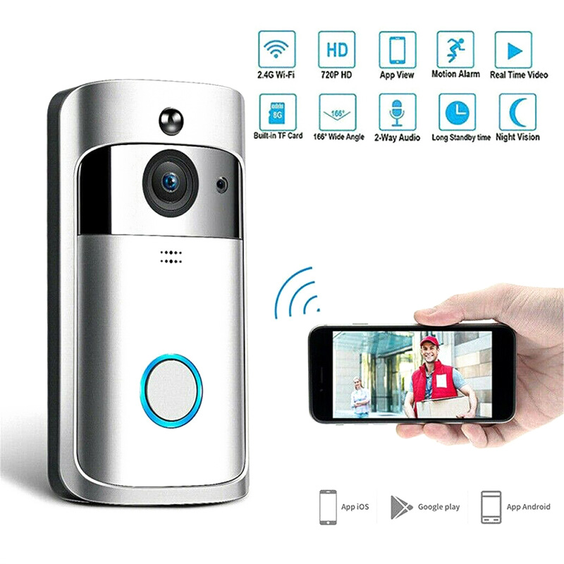 WiFi Smart Video Doorbell HD Security Camera Wireless Intercom PIR Wide-Angle For Home VH99