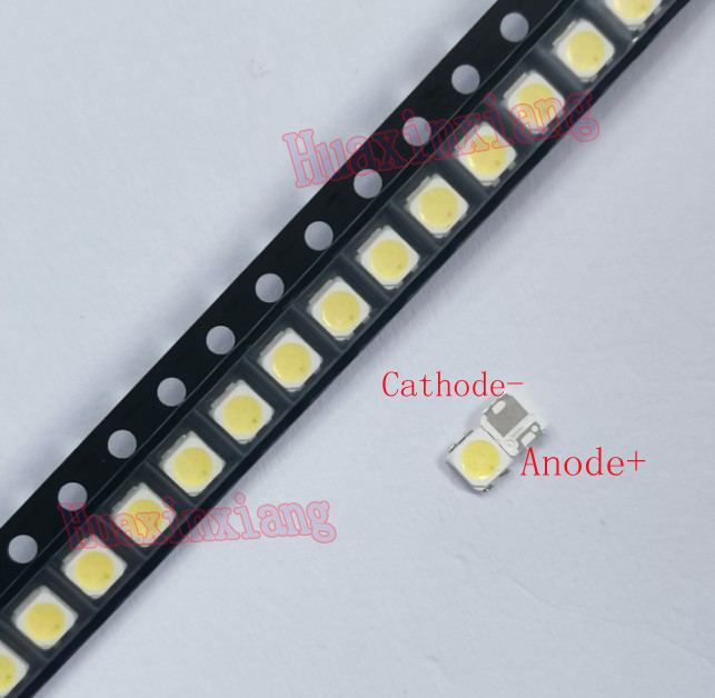 100pcs/Lot  SMD LED 3228 2828 3V 1W Cool White For TV Backlight Application