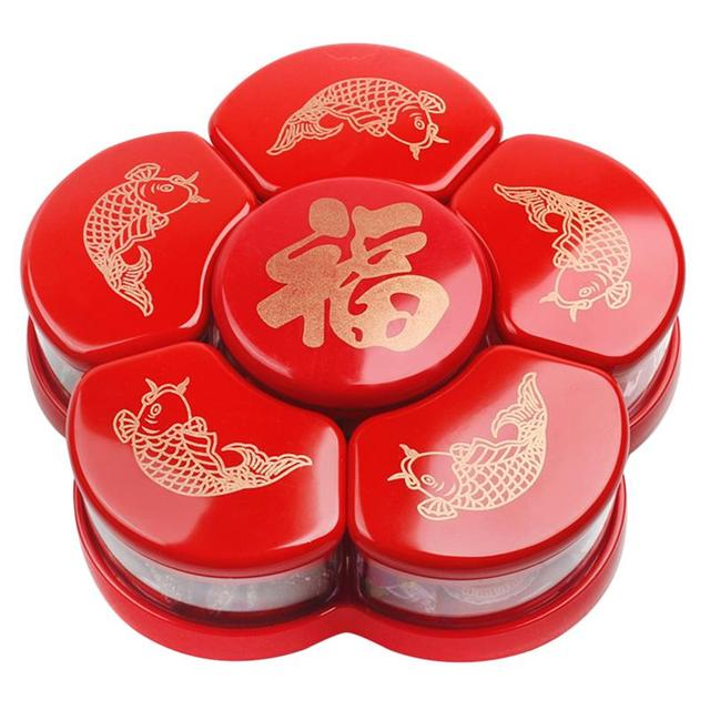 1Pc Plastic Candies Boxes Compartment Dried Fruit Box Snacks Storage Box Specialty Plates Compartment Snack Box
