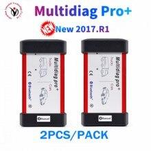 2 sztuk/paczka multidiag pro + Bluetooth USB 2017.R3 2016.00 keygen nowe przekaźniki skaner obd2 samochodów ciężarówka narzędzie diagnostyczne OBDII szybka wysyłka