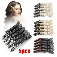 5Pcs/set Hairdressing Salon Sectioning Crocodile Grip Hair Clips Salon Hair Grip Crocodile Hairdressing Hair Style Barbers Clips