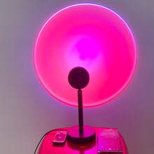 NEW Remote Music Control RGBW Sunset Projection Lamp Rainbow Atmosphere Led Light For Home Bedroom Shop Flower Wall Decoration