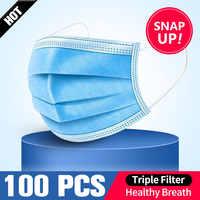 10/50PCS Disposable Protective Mask 3 Layers Dustproof Facial Protective Cover Masks Maldehyde Prevent bacteria anti-dust Masks