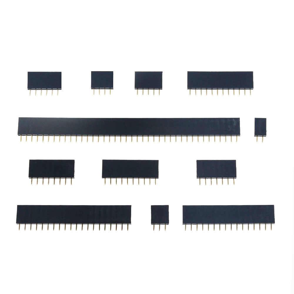 10 Chiếc 2.54 Mm Hàng Đơn Nữ 2-40P PCB Ổ Cắm Ban Pin Đầu Kết Nối Dây Pinheader 1X2 P 3 4 6 10 12 14 16 20 40Pin