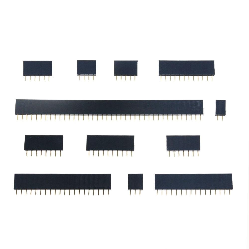 10PCS 2.54 millimetri a Fila Singola Femmina 2-40P PCB Scheda di presa di Spille Intestazione Connettore della Striscia di Spille un colpo di testa 1x2 P 3 4 6 10 12 14 16 20 40 Spille