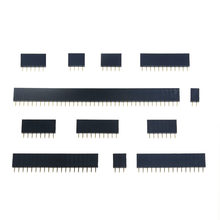 10PCS 2.54mm Single Row Female 2-40P PCB socket Board Pin Header Connector Strip Pinheader 1x 2P 3 4 6 10 12 14 16 20 40Pin