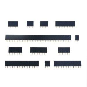 10PCS 2.54mm Single Row Female 2-40P PCB socket Board Pin Header Connector Strip Pinheader 1x 2P 3 4 6 10 12 14 16 20 40Pin