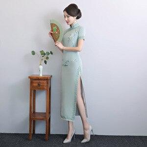 Image 5 - 2020 Vestido De Debutante โรงงานโดยตรงขายใหม่ Retro ตัดมือปักผ้าไหม Cheongsam ขายส่งทุกวันที่ดีขึ้น