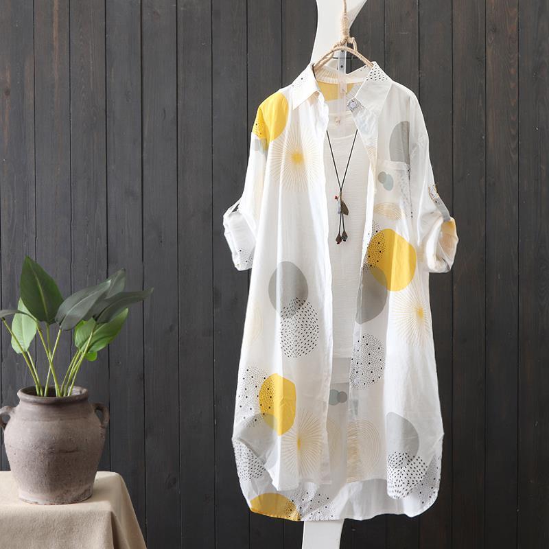 Jacket Women's Long Coat Shirt Chiffon Sunscreen Top Women's Thin Summer New Loose Sunscreen Coat Women's Cardigan Thin Coat