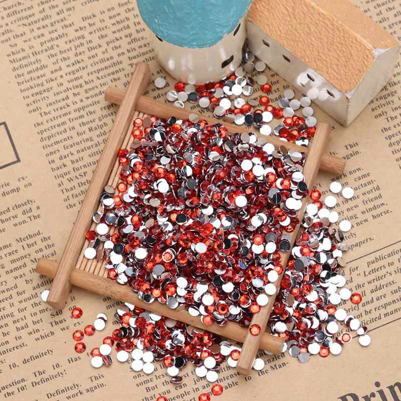 30g 4mm étincelant acrylique pierre gemme dos plat cristal strass pour bricolage Nail Arts voiture planches robes de mariage vêtements