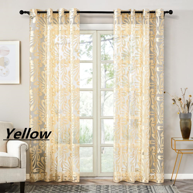 Topfinel Geometric Modern Window Sheer Curtain Panels for Living Room the Bedroom Kitchen Blinds Window Treatments Draperies Home Decor & Toys