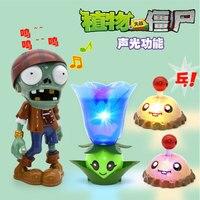 Plantas vs zumbi brinquedos 666-2  novo som e luz batata milha ejecção batalha conjunto de brinquedos educativos sem caixa