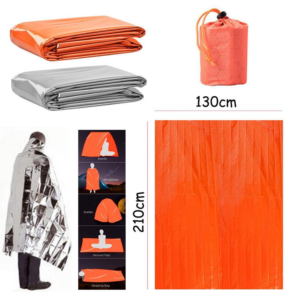 Waterproof Outdoor Life Emergency Sleeping Bag Portable Thermal KeepWarm Mylar First Aid Emergency Blanket Camping Survival Gear