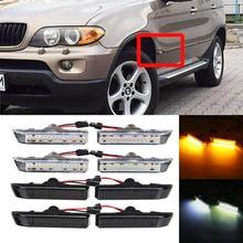 Пара светодиодные, боковые, габаритные фонари 12V сигнала поворота светильник Панель лампа мигалка для BMW 3 серии E36 для купе X5 E53 00-06