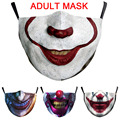 Funny Skull Horror Clown Big Mouth Cosplay Women's Men Unisex Masks Adult Face Dustproof Cycling Spots Breathable Halloween Mask