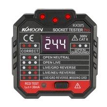 KKmoon KKM5 мини цифровая розетка детектор разъем питания проводка обнаружения настенный выключатель Finder RCD тестовая розетка er EU/UK/US