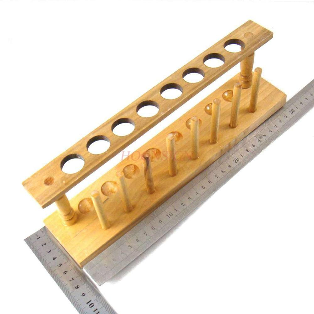 Wooden test tube rack 8 hole diameter 21mm chemistry laboratory equipment chemistry laboratory supplies consumables