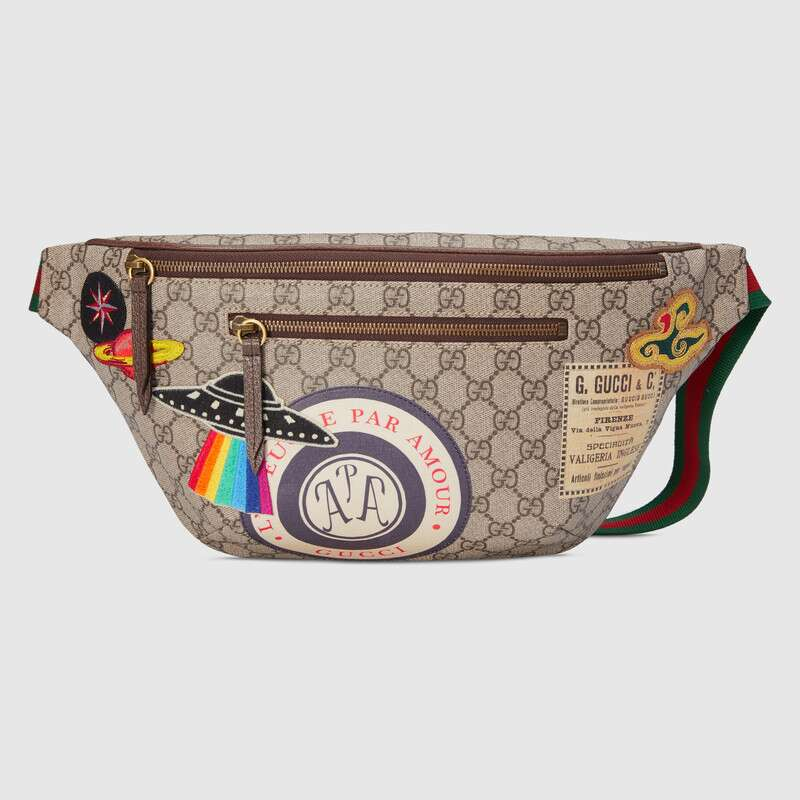 Gucci Gucci Courrier GG Supreme Belt Bag Waist Bags For Mens Crossbody Bag Canvas Leisure Chest Phone Pouch 529711 K9GLT 8967