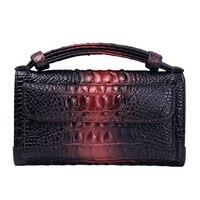 Crocodile Pattern Women Wallet Long Coin Purse Leather Wallet Women Clutch Bag Handbag Sac A Main Cartera Mujer Chain Hand Bag