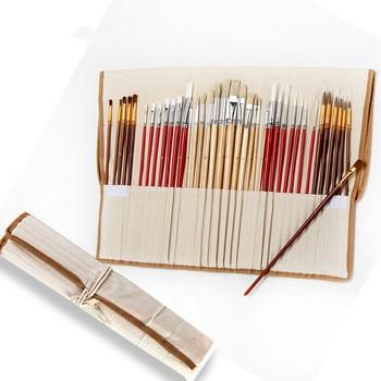 38 pinceaux Ensemble de pinceaux de peinture aquarelle / brosse de peinture de cheveux en nylon 2