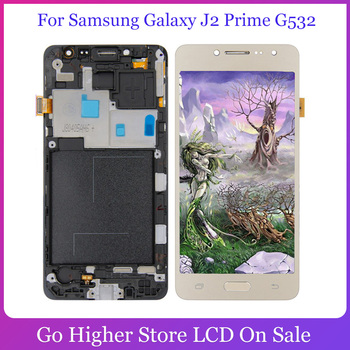 For Samsung Galaxy J2 Prime G532 LCD SM-G532 SM-G532F G532F LCD Display Touch Screen Digitizer Module Assembly for samsung galaxy j2 prime case g532 cartoon new lilo stitch novelty fundas phone case cover for samsung j2prime sm g532f coque