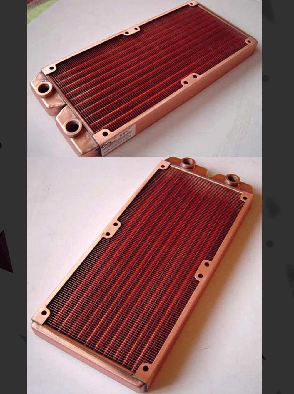 Ke Ruiwo Катюша серии 240 мм полностью красный медный радиатор водяного охлаждения подходит для вентиляторов 120 мм