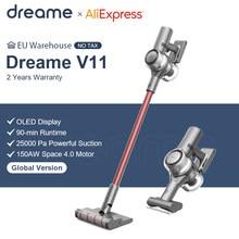 Dreame v11 handheld sem fio aspirador oled display portátil sem fio 25kpa tudo em um coletor de pó varrer tapete casa