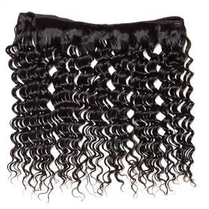 Image 3 - Sapphire Brasilianische Haar Weben 3 Bundles Mit 4*4 Spitze Schließung Remy Haar Tiefes Lockiges Menschliches Haar Tiefe Welle bundles Mit Schließung