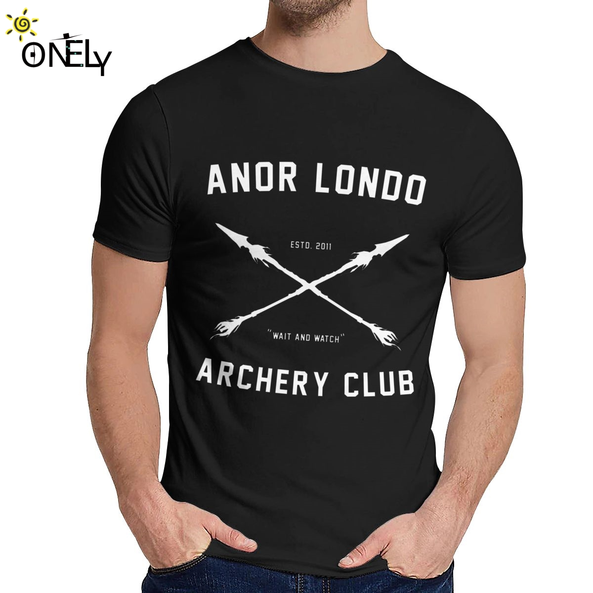 Leisure Man Dark Souls T Shirt ANOR <font><b>LONDO</b></font> ARCHERY CLUB Natural Cotton Hot Sale Man's O-neck Hip Hop Short Sleeve image