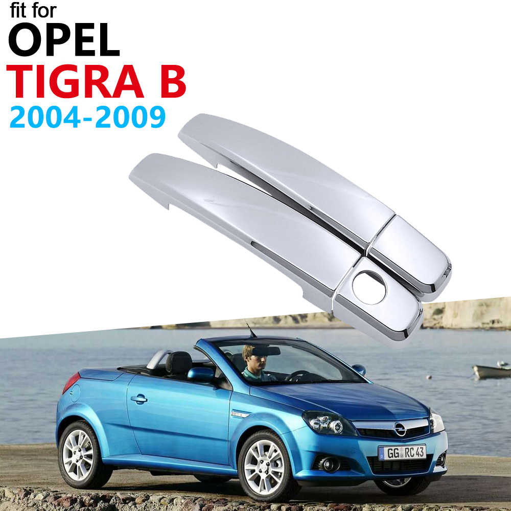 Luxe Chrome Exterieur Handle Cover Trim Set voor Opel Tigra B 2004 ~ 2009 2008 Vauxhall Holden TwinTop Accessoires Auto stickers
