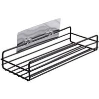 BMBY Self Adhesive Sundries Organizer Shower Shelf Basket Bathroom Shampoo Holder Wall Corner Kitchen Free Punching Wall Hanging|Storage Shelves & Racks| |  -