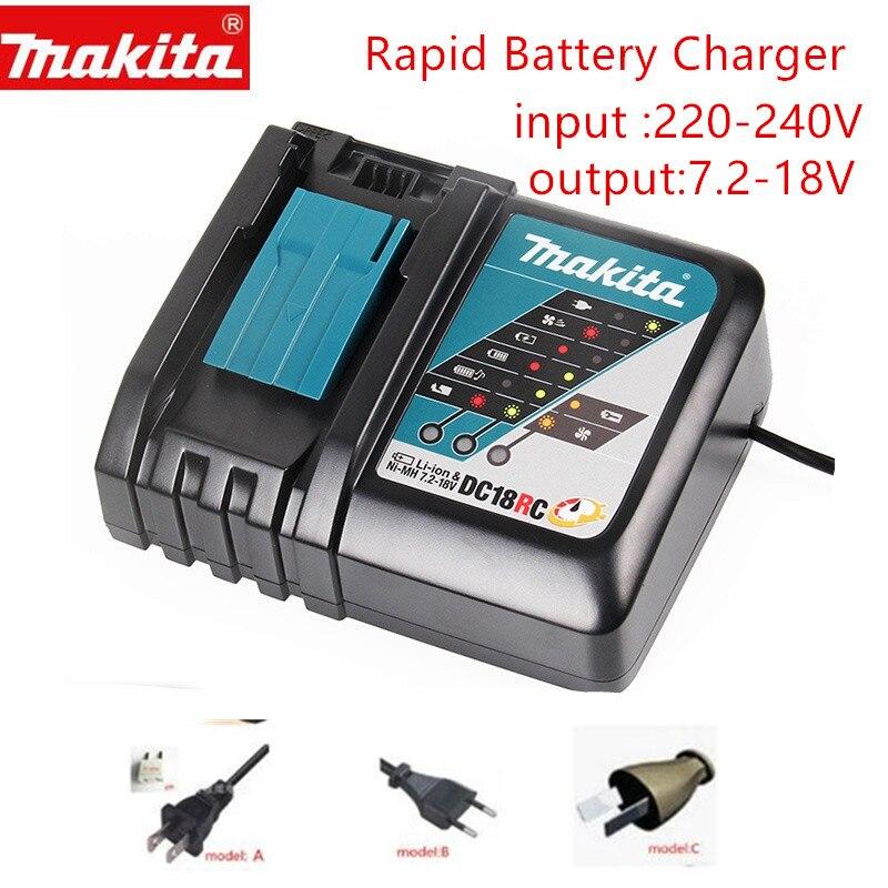MAKITA DC18RCT DC18RC CHARGER 7.2V - 18V  Lithium Ion / Ni-MH 14.4V 18V BL1830 Bl1430 BL1840 BL1830B BL1850 BL1860 DC18RC DC18RA
