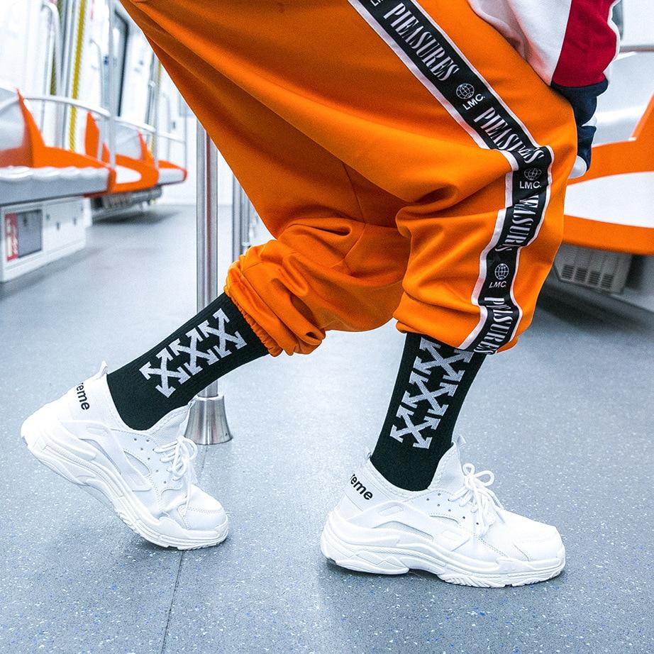 Mens Crew Cotton DHL Express Hip Hop Socks Vetements Style Letter Print Hipster Men Woman Fashion Sock Skaterboard Streetwear