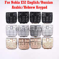 For Nokia E52 Mobile Phone housing replace Black Silver Gold Keyboard English or Russian Arabic Hebrew language Keypad