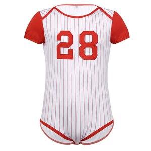 Image 3 - Мужское нижнее белье, пеленки для влюбленных, комбинезон, пижамы для взрослых, для малышей, с вырезом, прессованным шаговым швом, бейсбольная тематика, комбинезон, боди