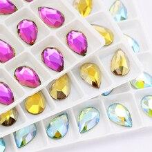 36 шт цветные Стразы для ногтей с плоской задней поверхностью, украшения для ногтей, Хрустальные стеклянные камни для маникюра, 3D блестящие стразы, драгоценные камни, сделай сам, плач