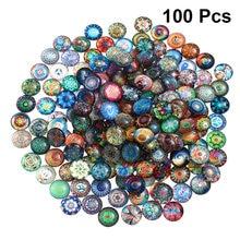 100 stücke 12mm Mixed Runde Mosaik Fliesen für Handwerk Glas Mosaik Liefert für Schmuck Machen