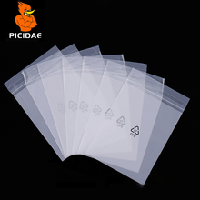Cpe Self Adhesive Ziplock Frosted Packaging Soft Bag Translucent Plastic Digital Electronic