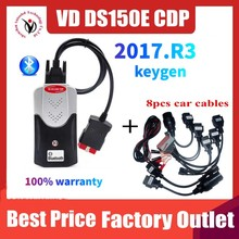 2021 חדש VCI VD TCS CDP Obd סורק עבור Delphis VD DS150E CDP 2017.R3 Bluetooth עבור מכונית & משאית אבחון כלי עם usb