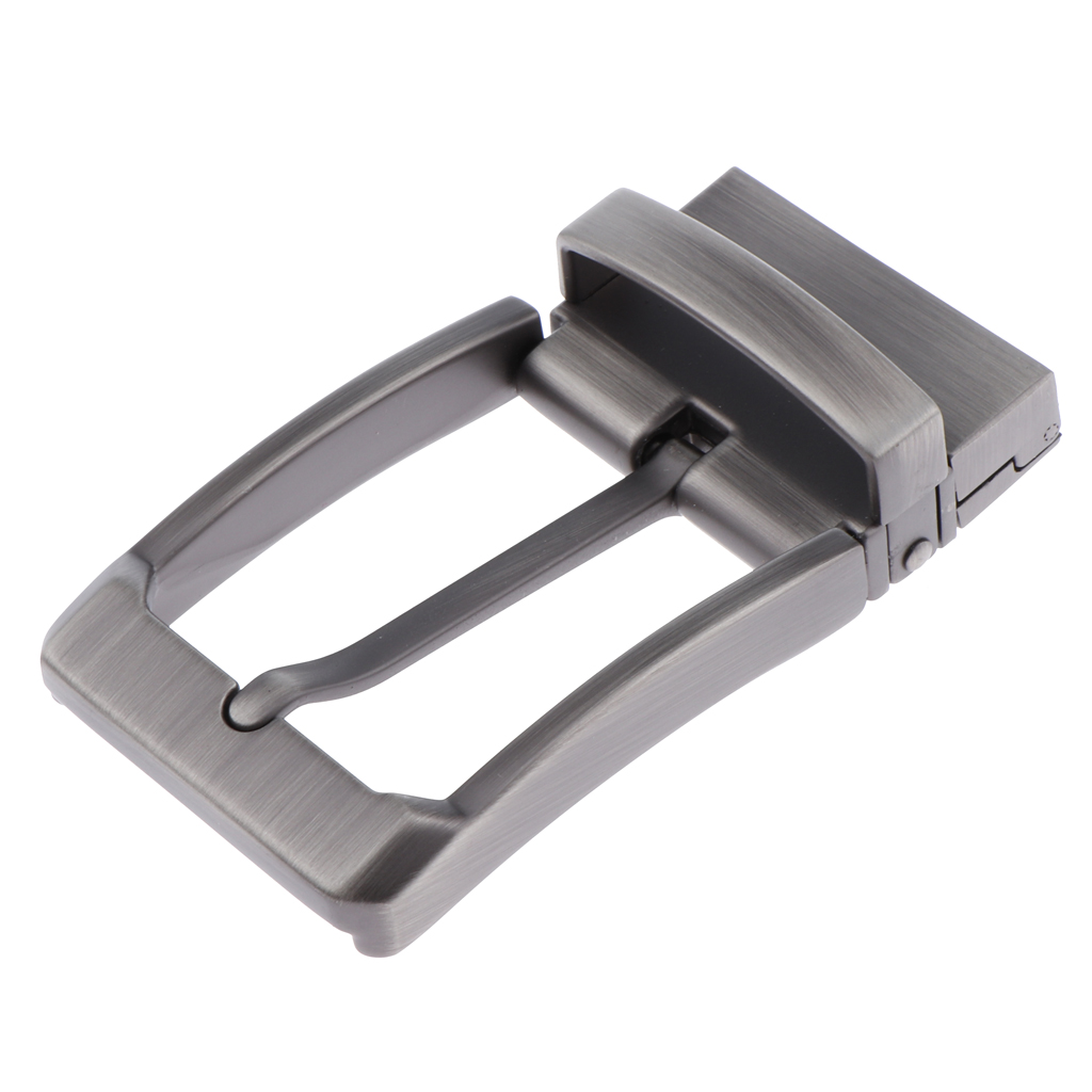 Mens Metal Reversible Belt Buckle Replacement Antique Pin Buckle Rectangular