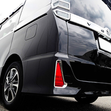 цена на ABS Chrome Rear Tail Lamp Light Cover Trim Car Accessories Sticker For For Toyota Noah Voxy 2014 2015 2016 2017 2018